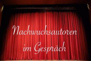 """Theatervorhang für Vorstellung """"Nachwuchsautoren im Gespräch"""""""